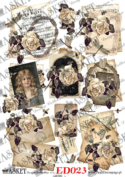 decoupage papier Asket Collection