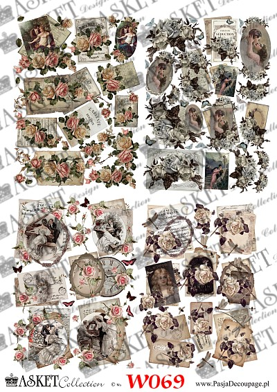 papier do decoupage wiosenny